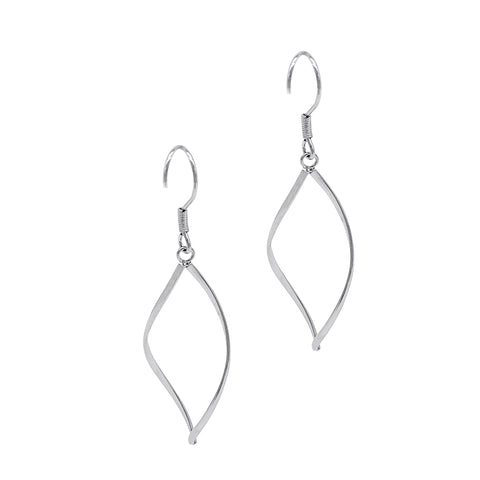 Marquis Dangle Hoops silver