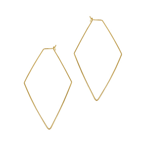 Geometric Hoops gold