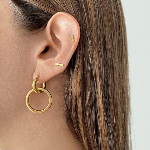 Dangle Hoops gold