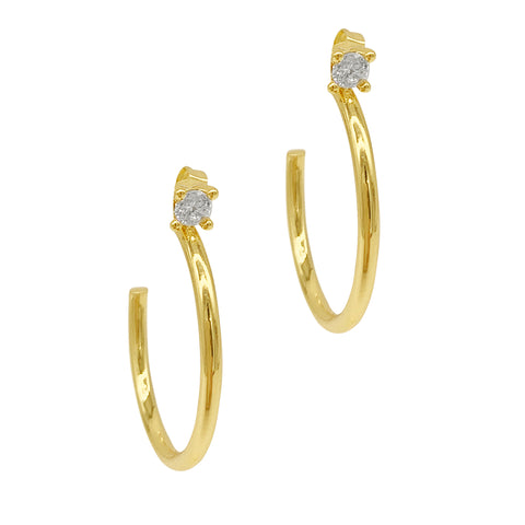 Studded Hoop Earrings gold