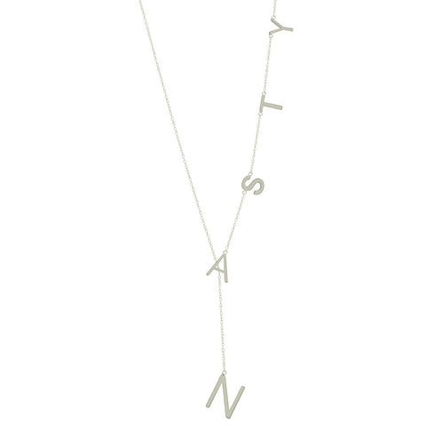 Nasty Lariat Necklace silver gold rose gold
