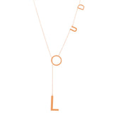 Loud Lariat Necklace