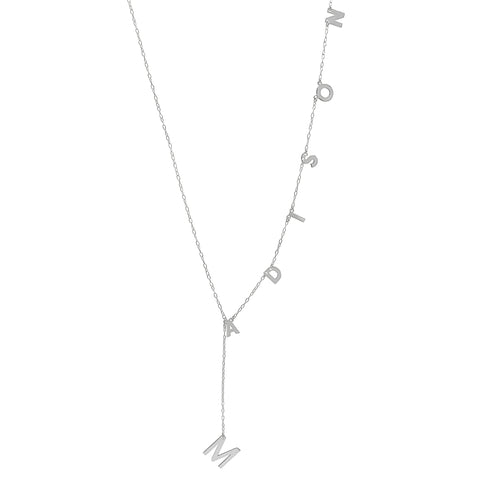 Customizable Lariat Necklace silver gold