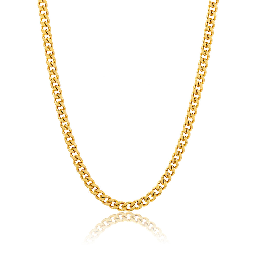 "24"" 5mm Cuban Boyfriend Chain gold"