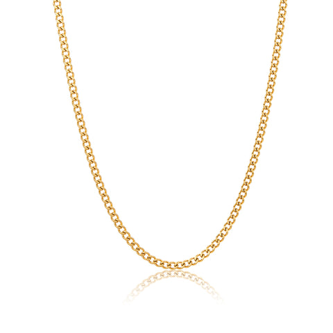 "24"" 3mm Cuban Boyfriend Chain silver gold"