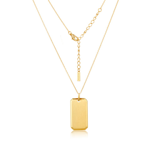 "Dog Tag Boyfriend Necklace 24"" gold"