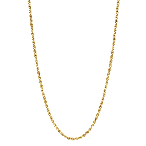 "24"" 3mm Rope Chain Necklace"