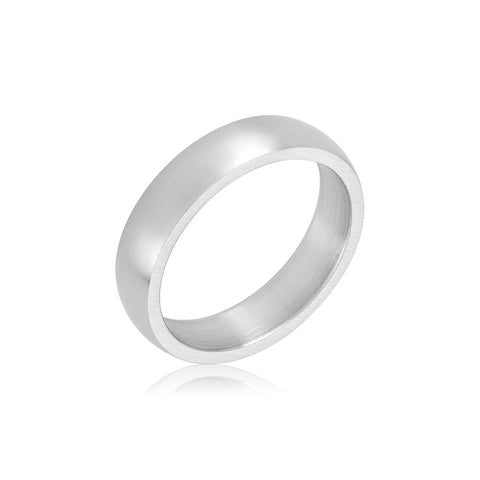 5mm Classic Matte Band silver