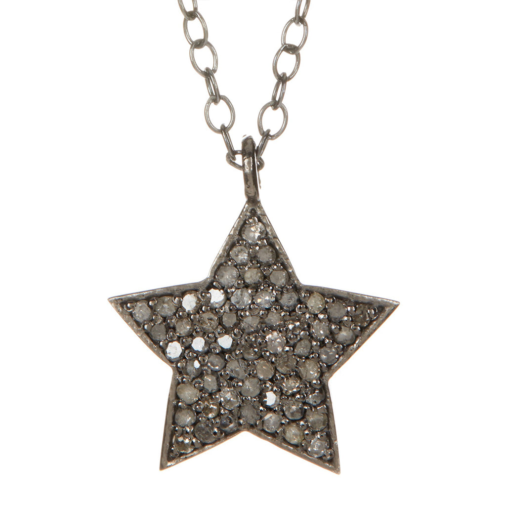 Shira Diamond Star Necklace silver