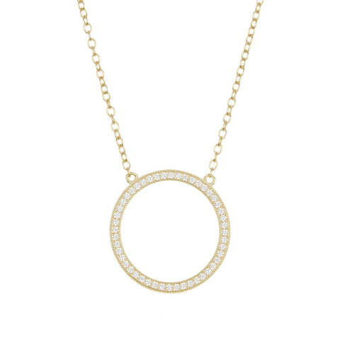 Circular Necklace silver gold