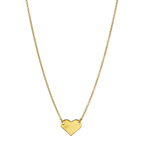 Heart Pendant Necklace silver gold
