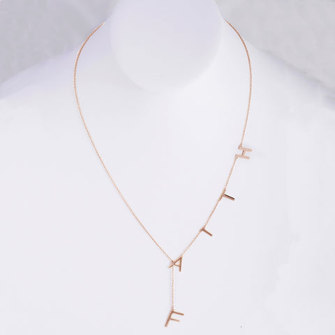 Faith Lariat Necklace