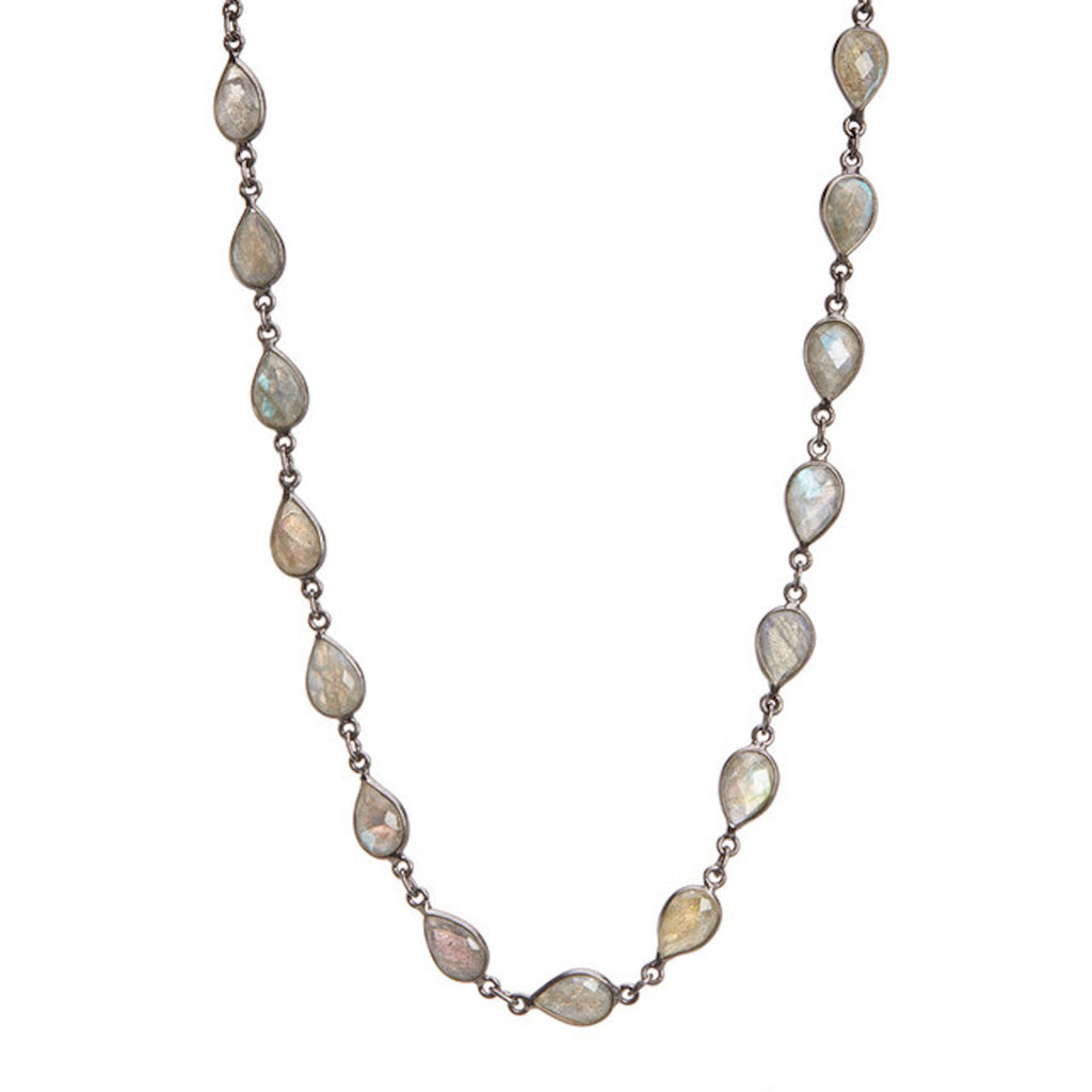 Pear-Cut Strand Necklace labradorite