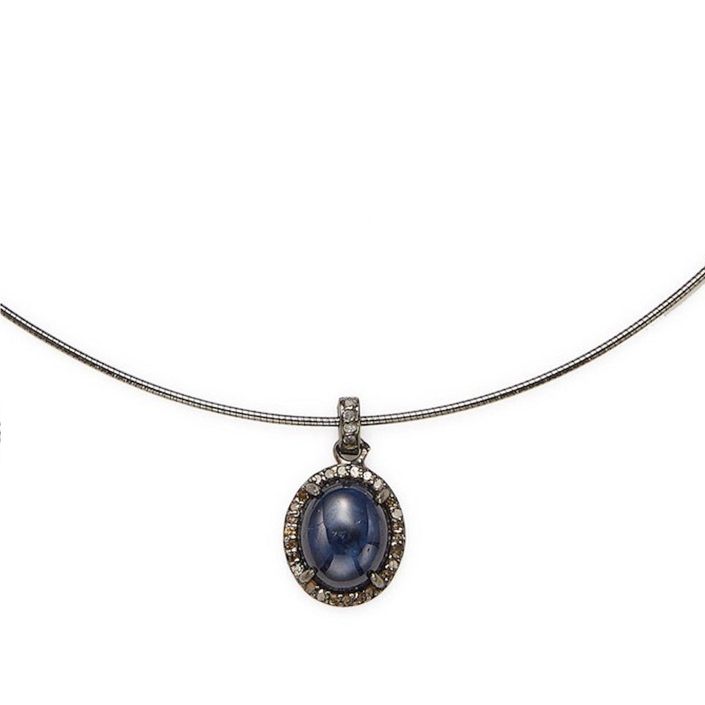 Milly Collar Necklace blue sapphire