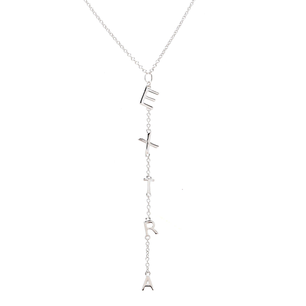 Extra Lariat Necklace silver yellow gold