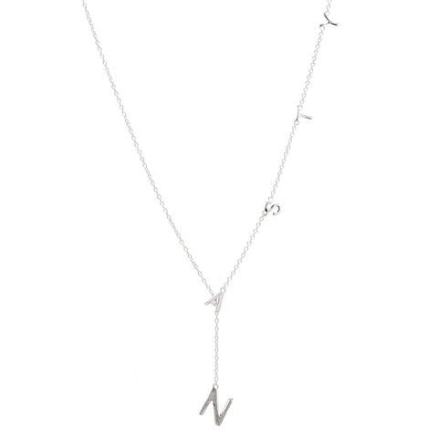 Mini Diamond Nasty Lariat Necklace