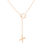 Mini Diamond XO Lariat Necklace