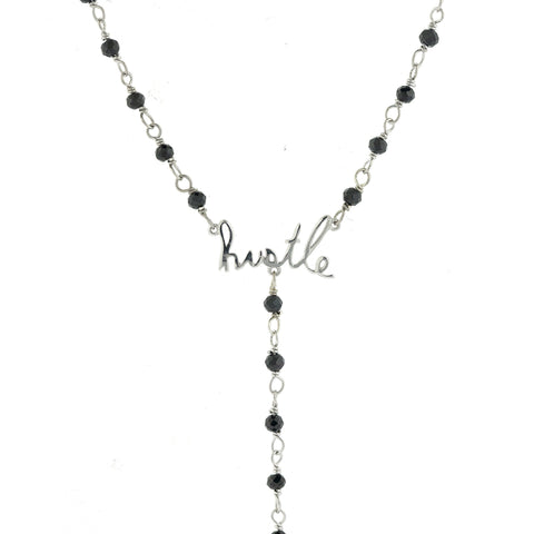 Rosary Bead Hustle Y-Necklace