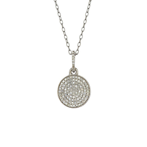 Diamond Disc Necklace silver diamond