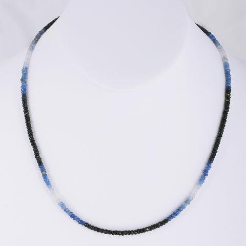 Ombre Beaded Necklace blue sapphire