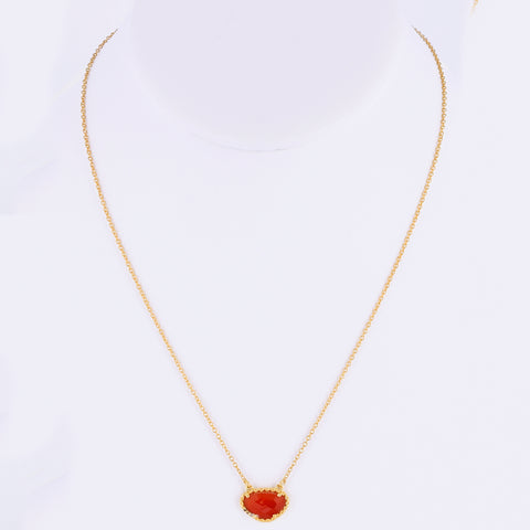 Gemstone Necklace carnelian