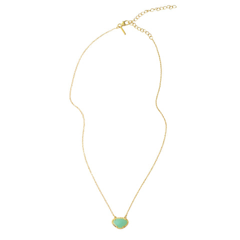 Gemstone Necklace chrysoprase