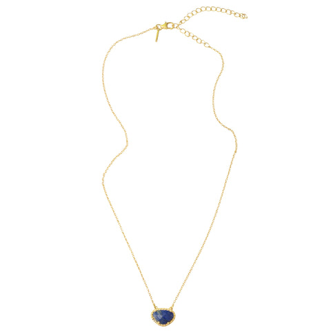 Gemstone Necklace blue lapis