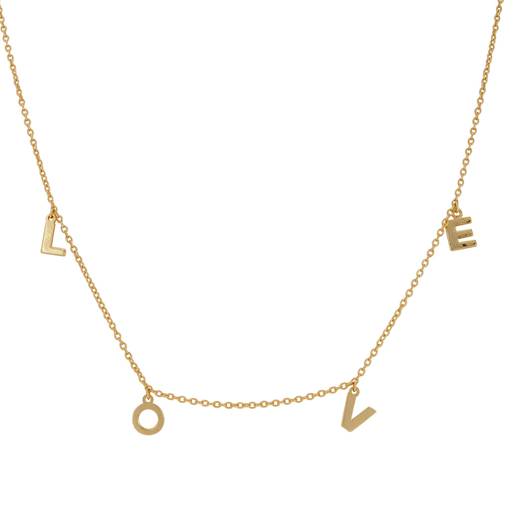 Love Dangle Necklace silver gold