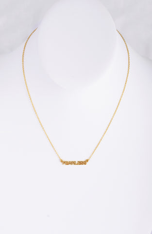 Fearless Necklace silver gold