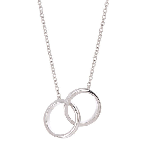 Interlocking Circles Necklace silver