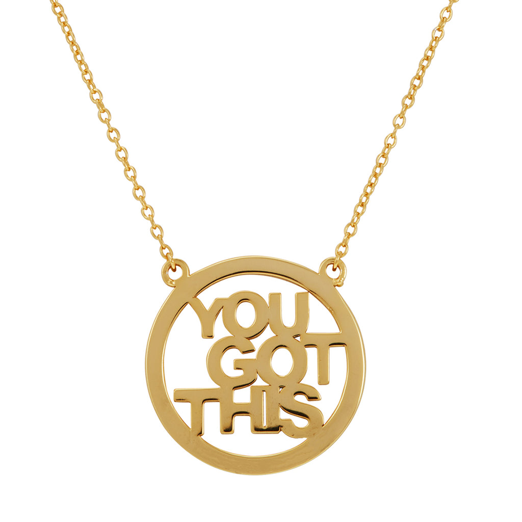 You Got This Necklace silver gold