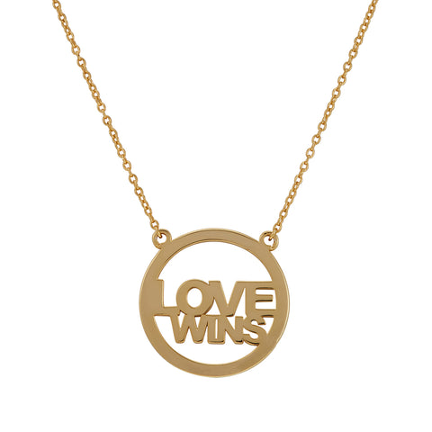 Love Wins Necklace silver gold