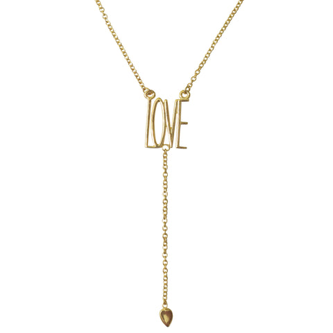 Love Y-Necklace silver gold