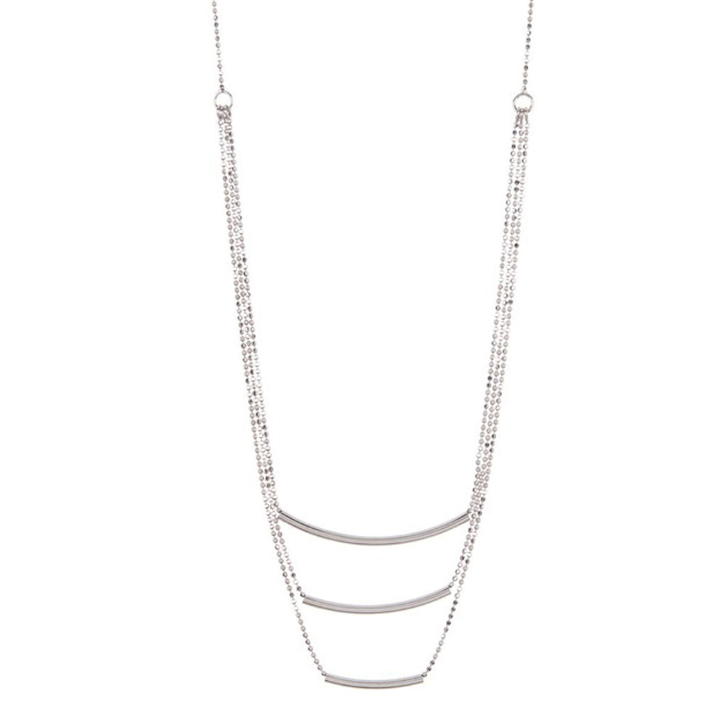 Triple Curved Bar Necklace