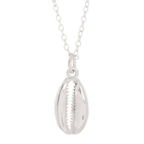 Cowrie Shell Necklace silver gold