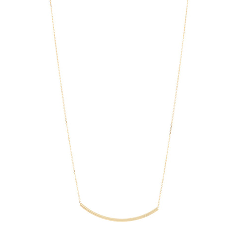Curved Bar Necklace silver gold