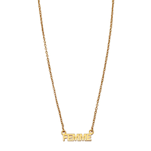 Femme Necklace silver gold