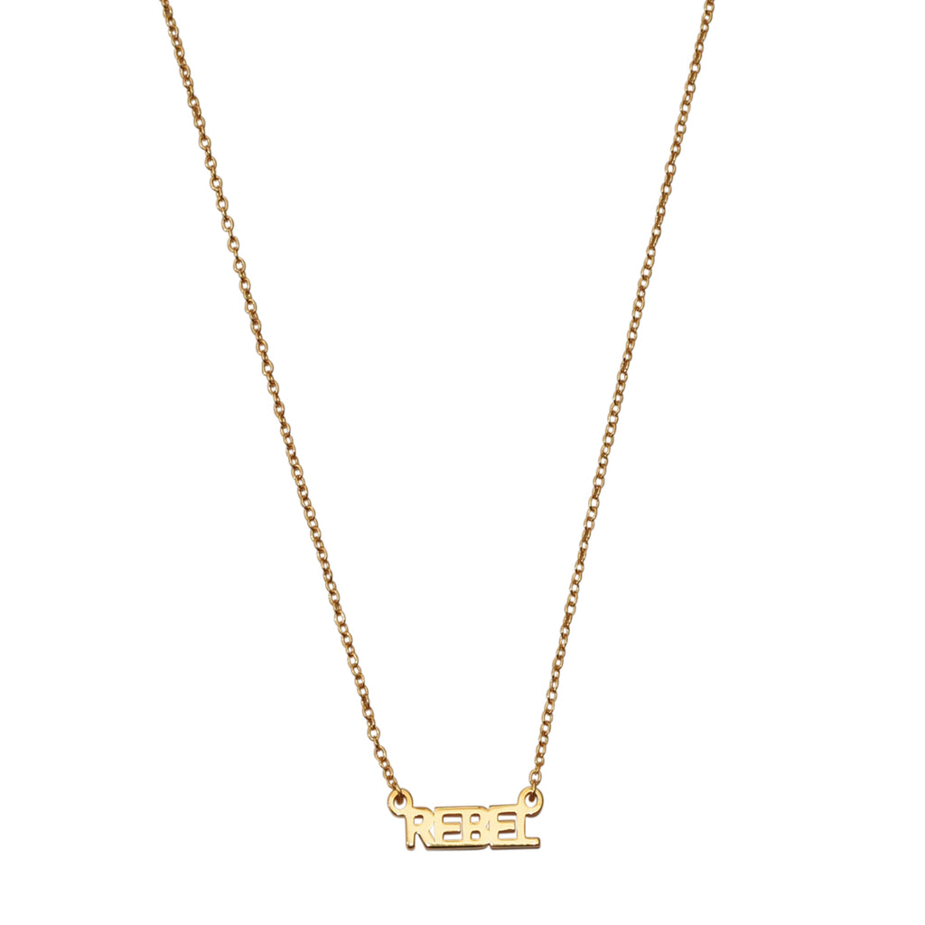 Rebel Necklace silver gold