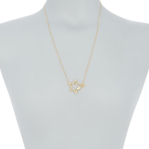 Star Screw Lock Necklace silver gold