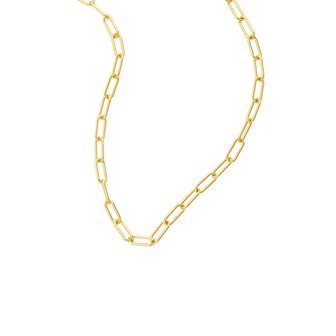 Chunky Paper Clip Chain Necklace gold