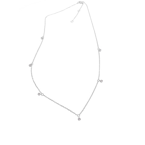 Diamonds by the Yard Dangling Necklace silver