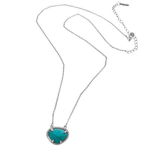 December Birthstone Necklace turquoise silver gold
