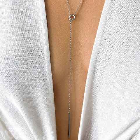 Lariat Necklace silver