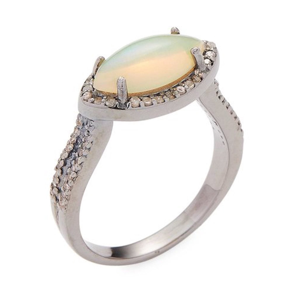 Mini Marquis Ring opal