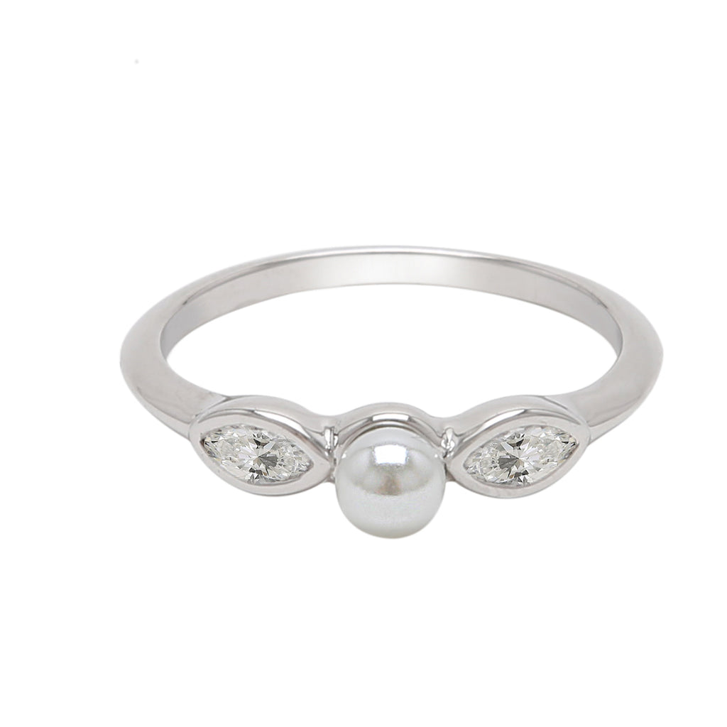 Marquis Pearl Ring freshwater pearl silver