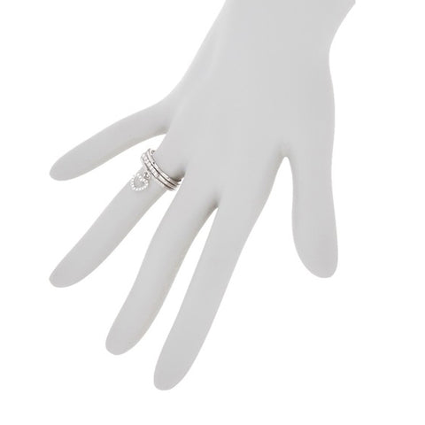 Heart Band Ring Set silver