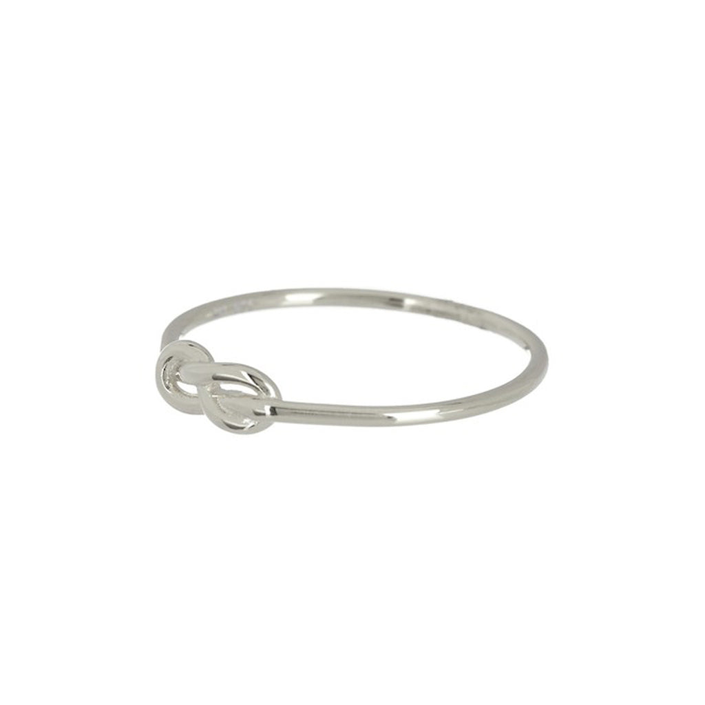 Infinity Knot Ring silver gold