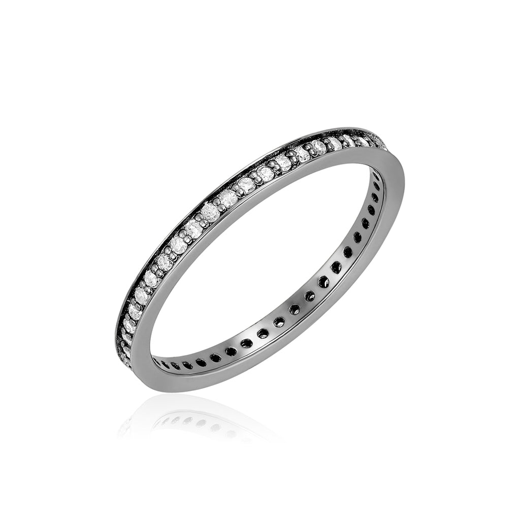 Diamond Eternity Band silver