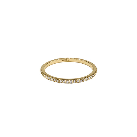 Diamond Full Eternity Band Ring 14k yellow gold