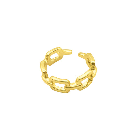 Open Adjustable Chain Link Ring